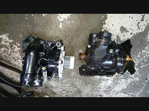 アウディA4 水漏れ修理