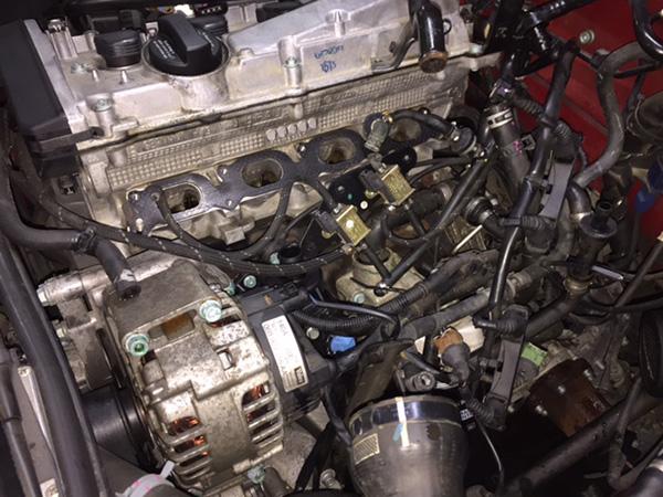 アウディA4エンジン冷却水漏れ